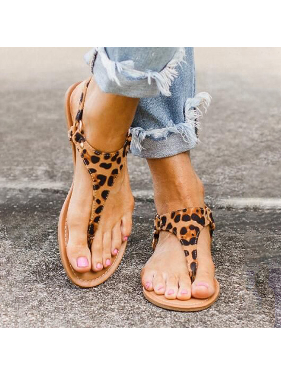 BerryLook Women's leopard-print leopard buckle sandals