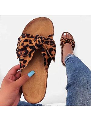 Bow Flat Slippers фото