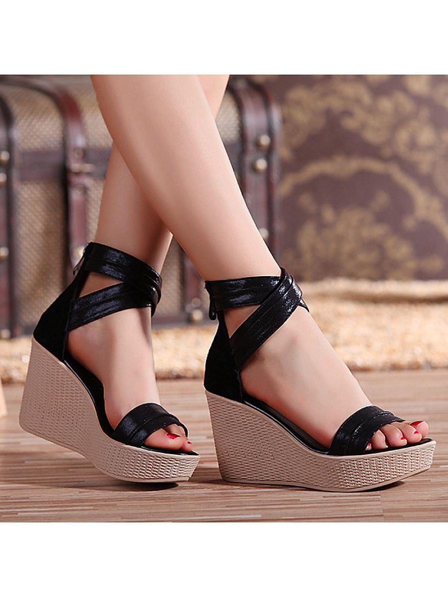Women's sponge platform platform sandals Roman sandals