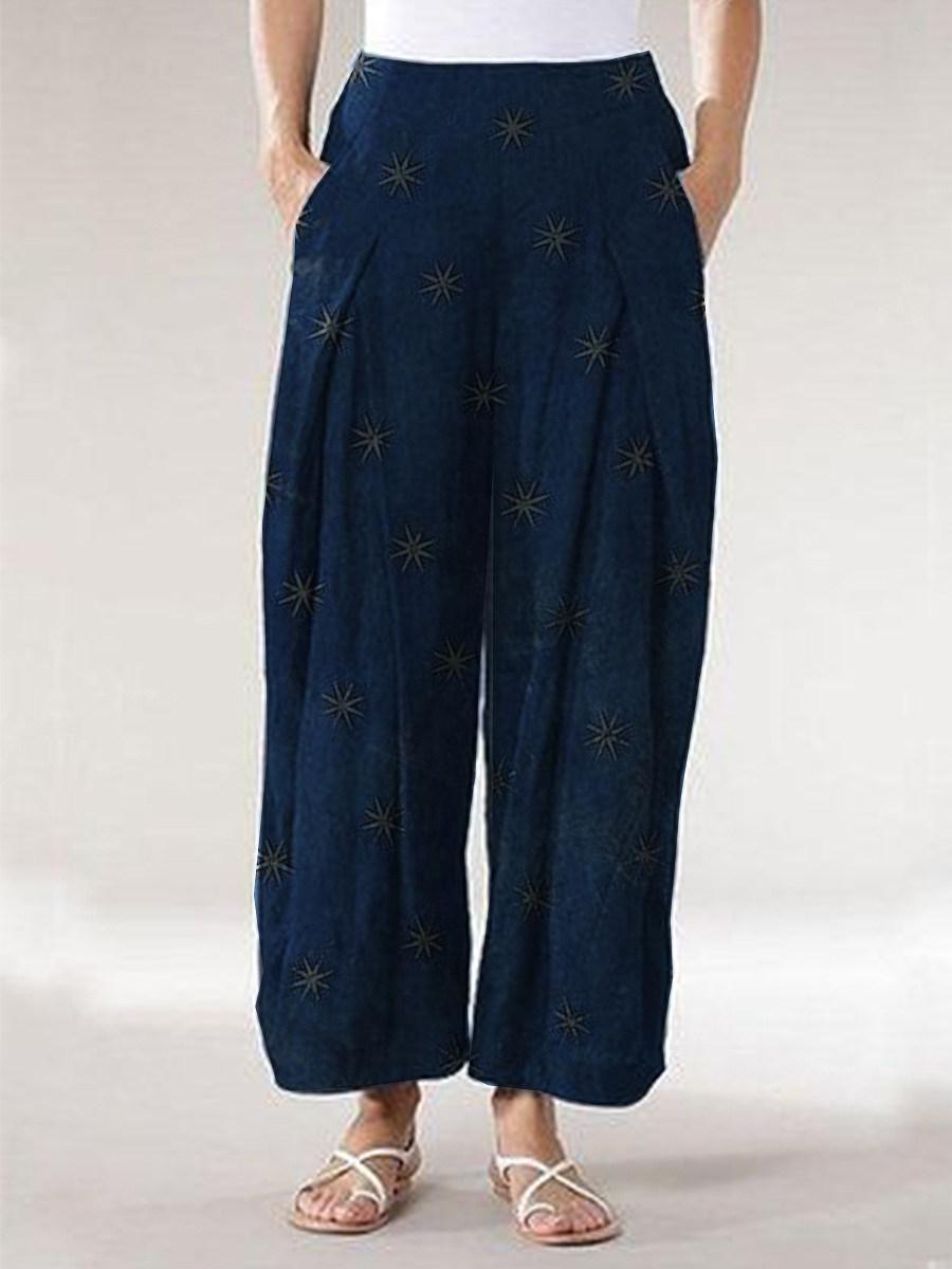 BerryLook Fashion star print loose slacks