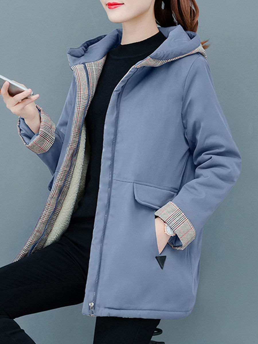 Casual solid color pocket coat - from $31.95