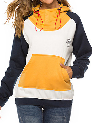 Women's Casual Embroidered Colorblock Loose Hoodie gender:female, colour:other, season:autumn,winter,spring, texture:cotton, pattern_type:embroidery, sleeve_length:long sleeve, sleeve_type:raglan sleeves, style:japan and south korea, collar_type:hat collar, dress_occasion:daily, bust:120,clothing length:68,shoulder width:39,sleeve length:77,