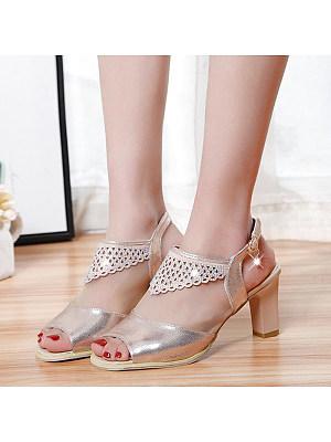 Stylish high-heeled wild sandals