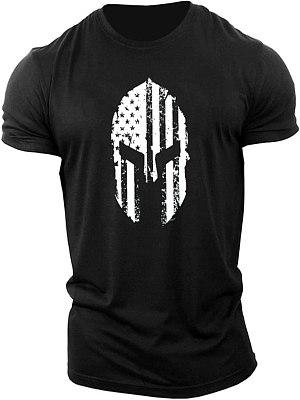 Mens Machi helmet fitness short sleeve T-shirt