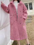 Image of Lamb wool coat women's mid-length plush coat