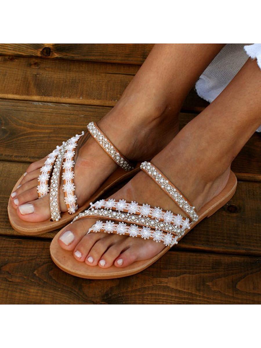 BerryLook Women's  bohemian flat slippers