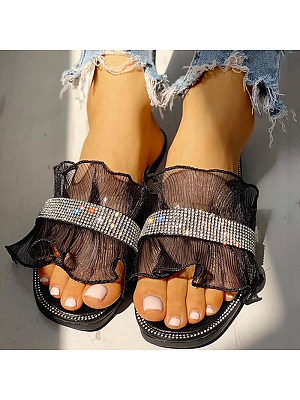 Fashion lace simple beach slippers, 11321293