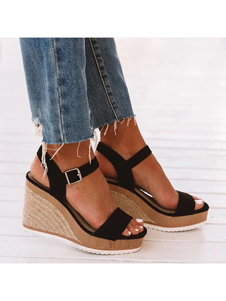 BerryLook Women's fashion wedge sandals