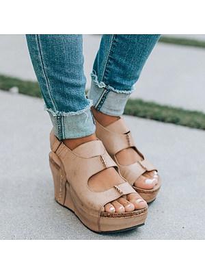 Light vintage wedge sandals, 11231125