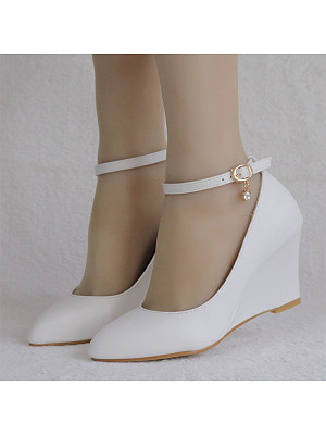 Fashion shallow mouth pointed wedge shoes