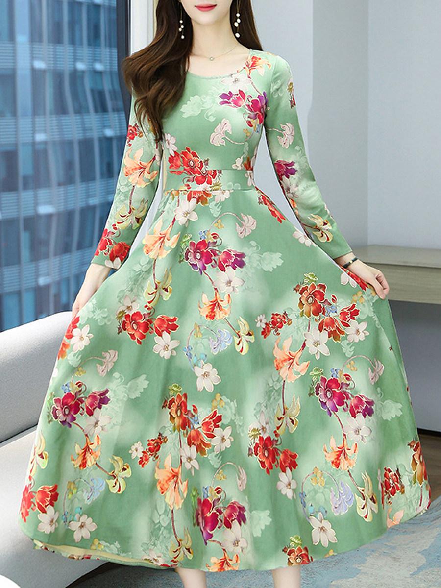 Deerskin Velvet Print Maxi Dress
