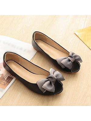 Fashion ladies peep-toe bowknot flat soft bottom single shoes, 11053702