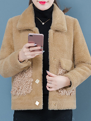 Women's Fashion Gold Mink Velvet Thick Coat gender:female, season:autumn,winter,spring, texture:polyester, sleeve_length:long sleeve, sleeve_type:regular sleeve, style:japan and south korea, collar_type:fold collar, dress_occasion:daily, bust:110,clothing length:65,shoulder width:41,