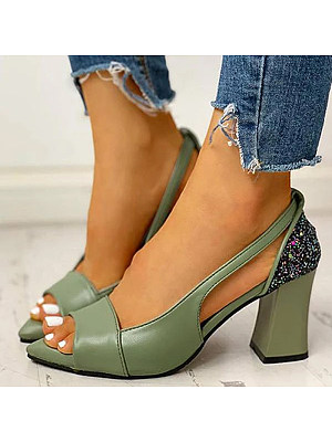 Pointed toe wild fishbill sandals