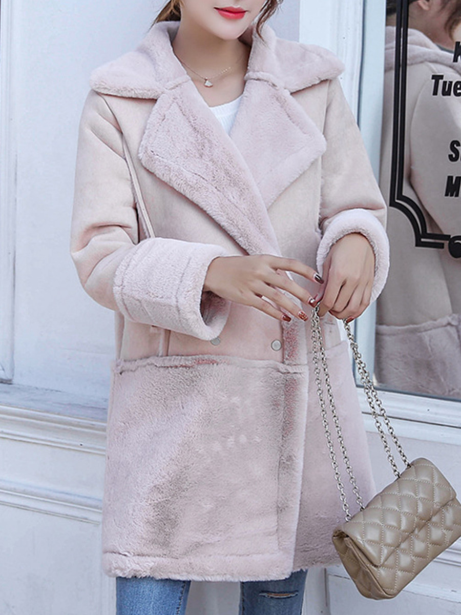 Solid suede coat - from $38.95