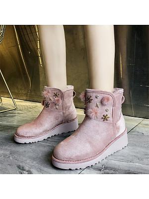 Fashion sweet ladies rhinestone wedges heels snow boots, 9888228