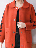 Image of Cardigan thick sweater coat women's top