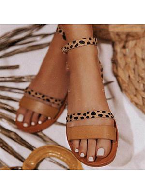 Womens Strappy Beach Flat Sandals