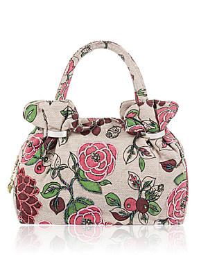 Ethnic Style Women Beaded Flower Evening Bag