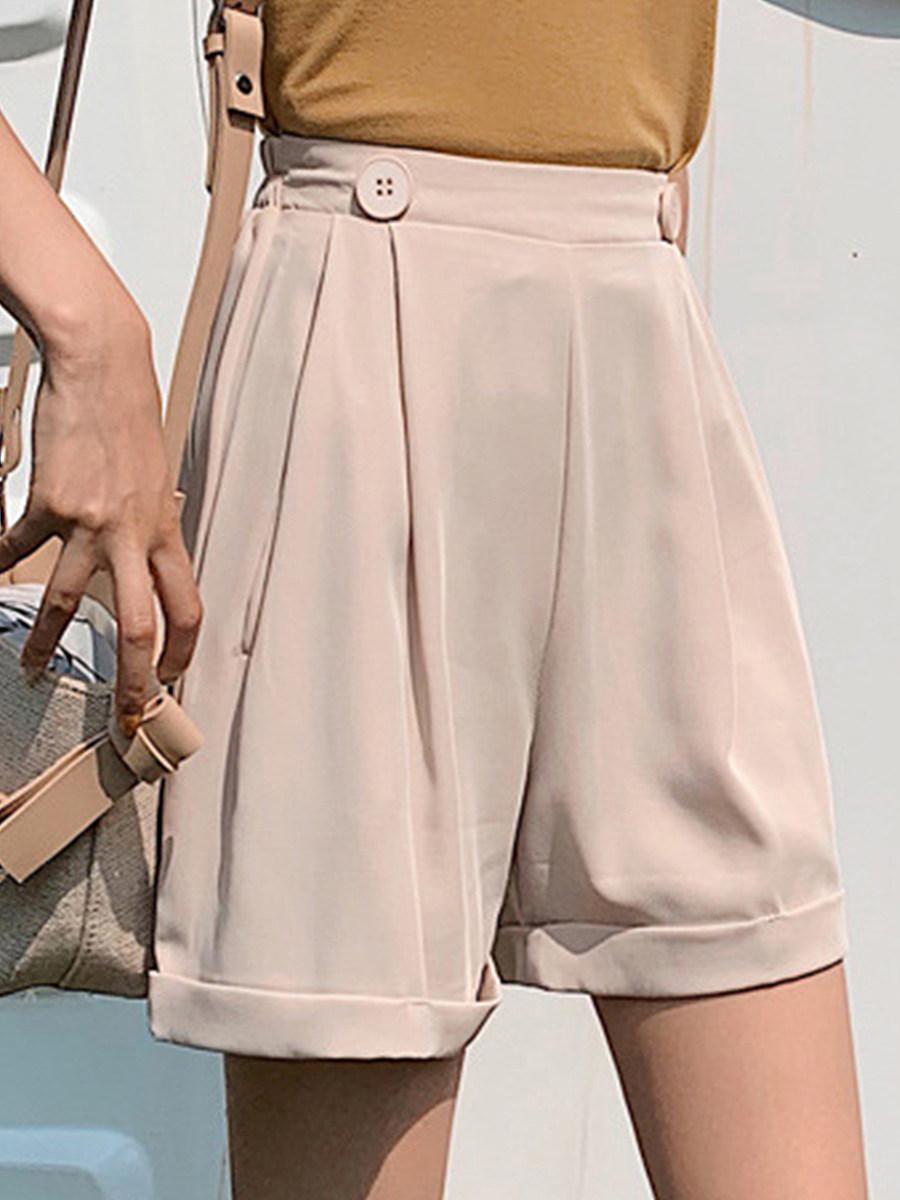BerryLook Chiffon shorts plus size suit shorts wide legs
