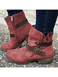 Image of Fashion fringed platform lace-up ankle boots