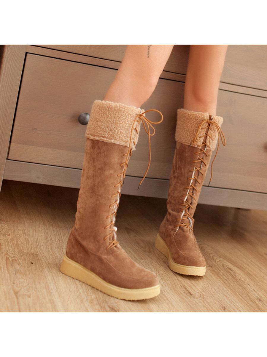Round head European and American casual bow boots - from $29.95