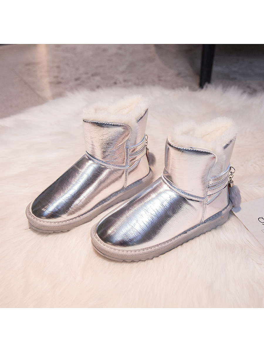 Casual female students waterproof plus velvet snow boots - from $29.95