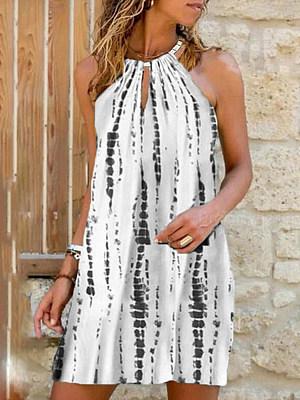 Berrylook Halter Print Vest Dress shop, online stores, sleeveless shift dress, floral shift dress