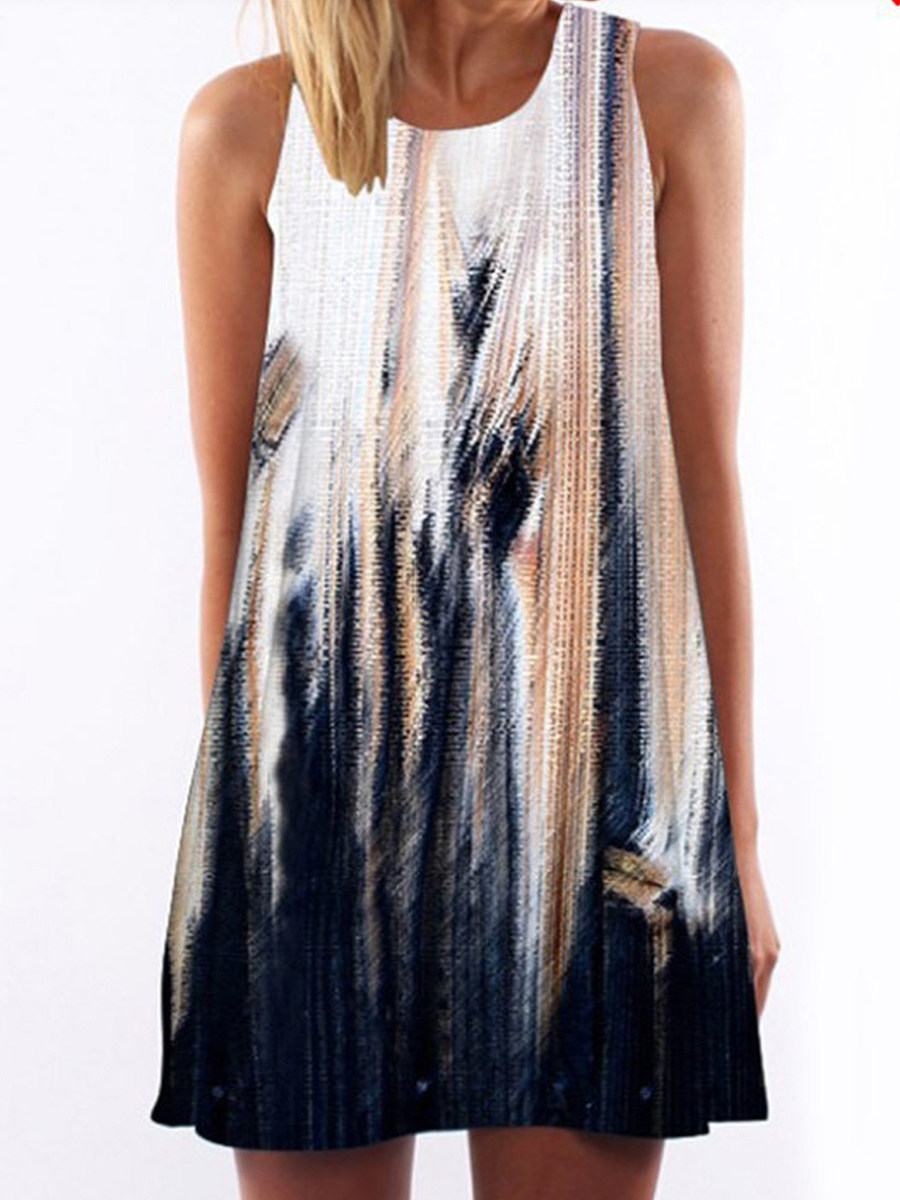Fashion sling midi skirt white loose straight dress