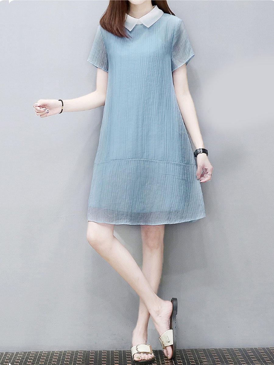 New Korean loose chiffon dress