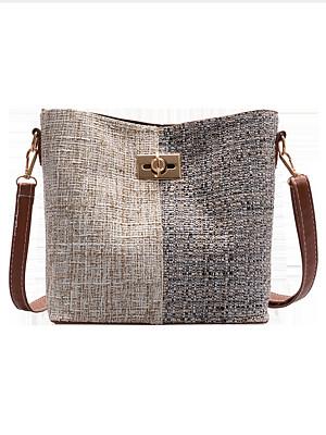 Woolen Wool Stitching Sross-Body Bag