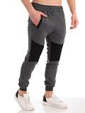 Stitching fashion casual pants sports feet pants