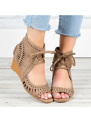 Women's front lace-up high-heeled fish mouth sandals, 23705904