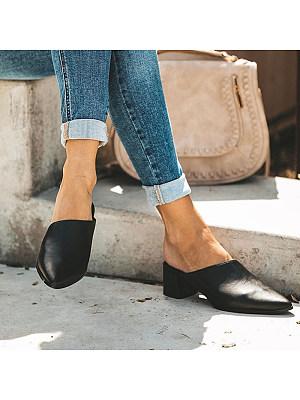 European style heeled sandals фото