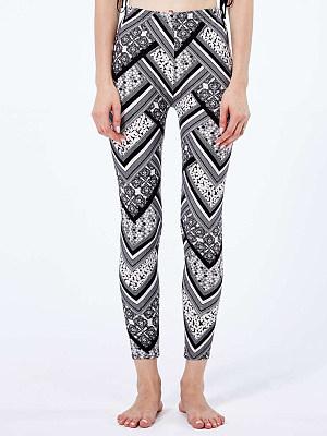 BERRYLOOK Fashion geometric print high waist leggings