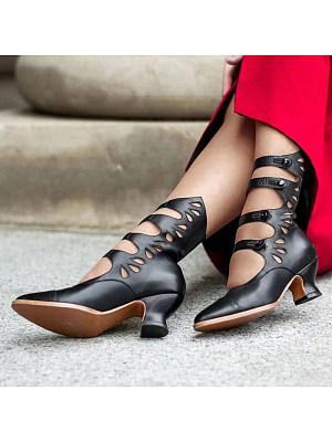 Cutout toe heeled Roman sandals, 10776465