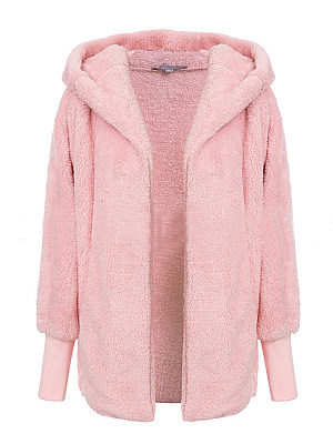 Women's Fashion Warm Hooded Coat gender:female, season:autumn,winter,spring, collar:sweater with cap, texture:artificial fur, sleeve_length:long sleeve, sleeve_type:regular sleeve, style:japan and south korea, collar_type:hat collar, dress_occasion:daily, bust:143,clothing length:70,
