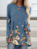 Image of Flower print casual T-shirt