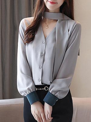 Fashion Long Sleeve Blouse, 11304513