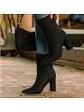 Image of Fashion pointed toe side zipper women's boots
