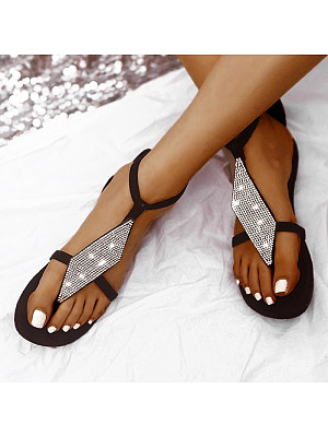 Bohemian Rhinestone Sandals, 24432183