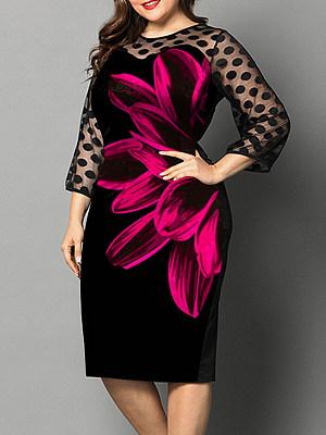 Patchwork Lace Print Dress