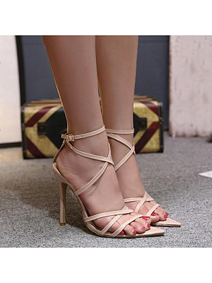 Pointed Toe Sexy Women High Heel Sandals, 10869199
