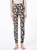 Image of Fashion tie-dye butterfly print casual high-waist leggings