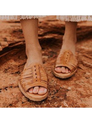 Casual flat cutout open toe sandals, 10941675