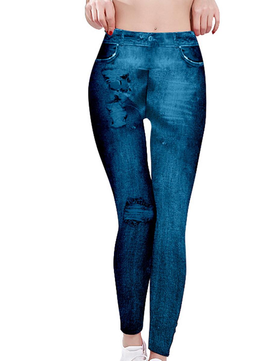 BerryLook Fashion printed high waist plus size stretch leggings