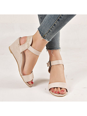 Berrylook Stylish simple wedge sandals for women online, clothing stores,