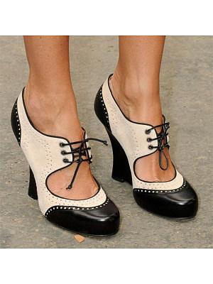 Colorblock high heel sandals, 23598514