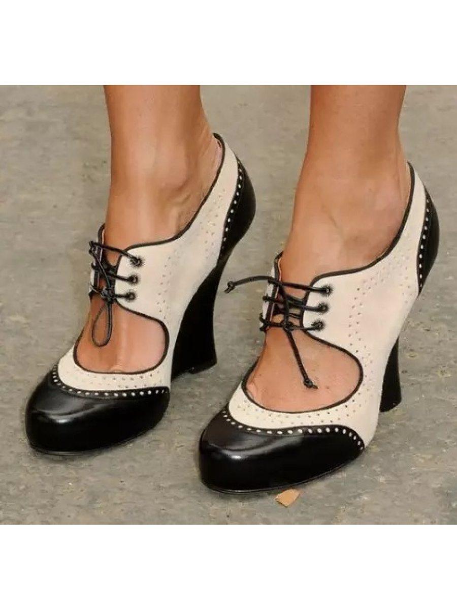 BerryLook Women's color matching high heel sandals