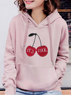 Women's Casual Printed Hoodie Sweatshirt gender:female, season:autumn,winter,spring, pattern_type:printing, sleeve_length:long sleeve, style:japanese and korean style, collar_type:hat collar, dress_occasion:street shot,daily, bust:114,clothing length:60,shoulder width:60,